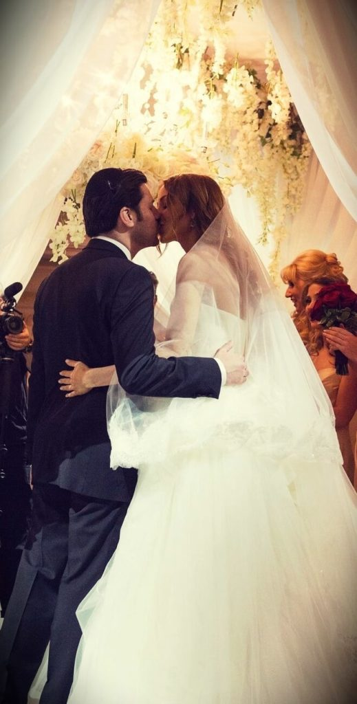 Niki Sky with her husband at their wedding