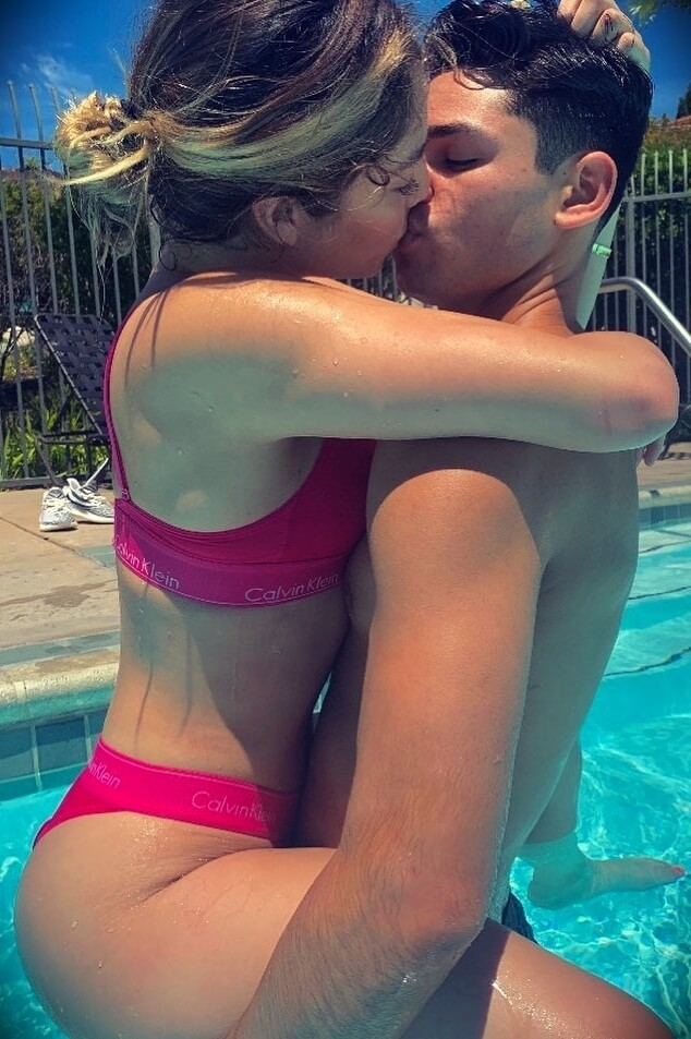 Ryan Garcia with his girlfriend Dreac é Lina