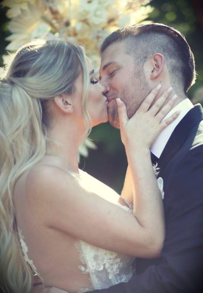 Samantha Ravndahl with her husband Matt Parsons