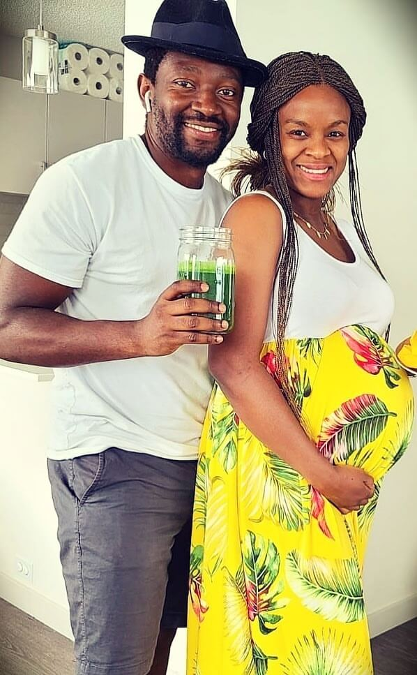 Fabiola from Shine with Plants with her husband Arnaud