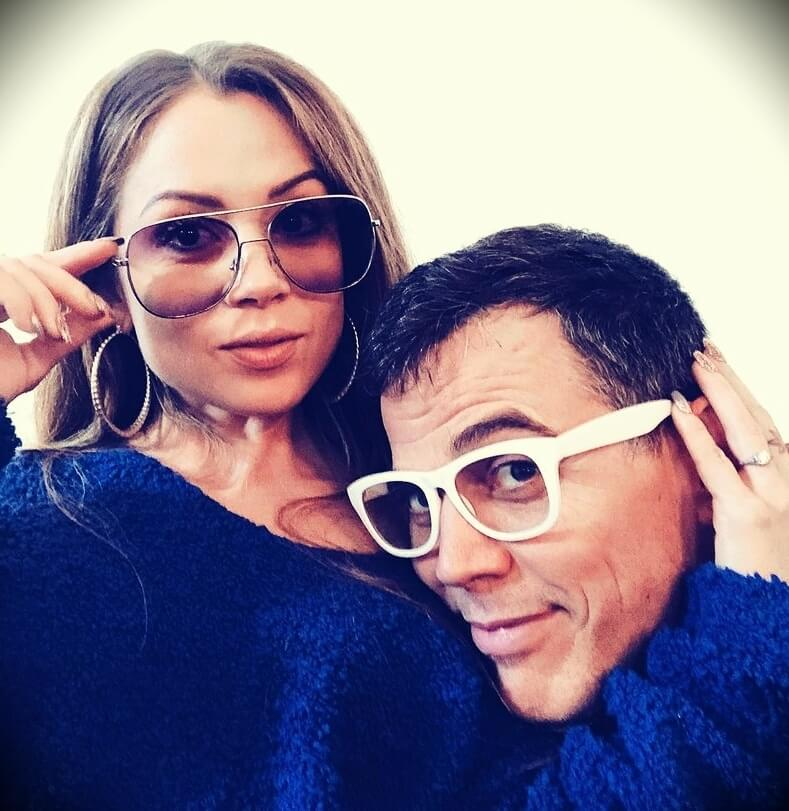 Steve-O with his fiancée Lux Wright