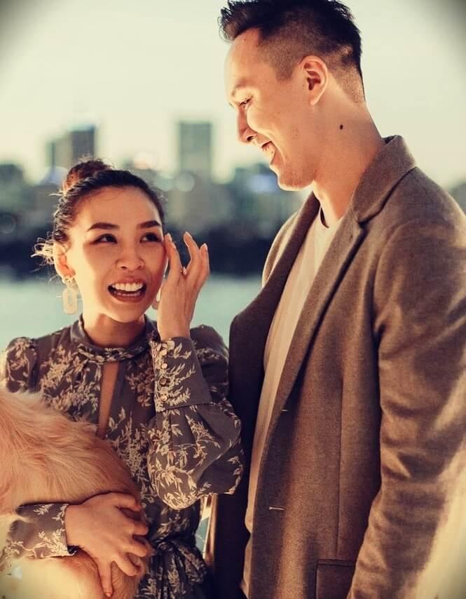 Tina Yong with her husband Alfred Tran
