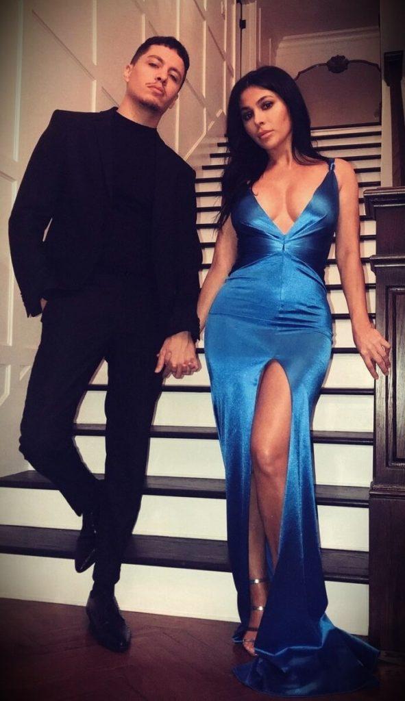 Teni Panosian with her boyfriend Enesse Ansouri